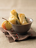Apple and goat's cheese nems