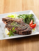 Grilled beef chop