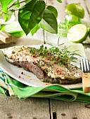 Duck Magret marinated with spices and lime
