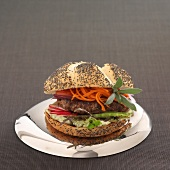 Caramelized pork burger