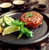 Tomato and tuna fish tatar with lemons