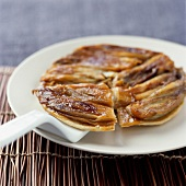 Caramelized chicory thin pastry tart