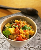 Vegetable and chickpea tajine