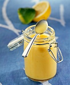 Jar of lemon-lime curd