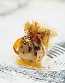 Aumoniere Suzette (Crepe bag with orange cream)