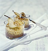 Millet with pears and duck emulsion