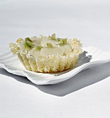 Sticky rice cake with white turnip and salted butter