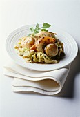 Scallops with chinese cabbage