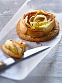 Chicory and fennel seed savoury tartlet