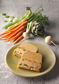 Spring vegetable and Foie gras terrine