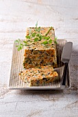 Vegetable and mushroom terrine