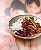 Sauteed beef and peppers