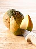 Swedish turnip cut in half