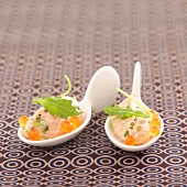 Potted salmon with green apple