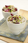 Japanese-style bean sprouts and black radish salad
