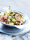 Potato,octopus and caper salad