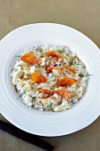 Champagne-flavored risotto with Poutargue