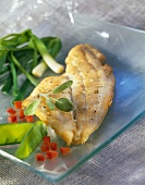 Sole fillets with vegetables