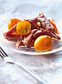 Duck Aiguillettes with kumquats