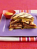 Pork, cheese, gherkin and mustard grilled Quesadilla
