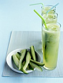 Chilled cucumber smoothies
