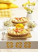 Potato, tomato and lemon tartlets