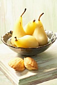 Pears poached with Sauternes and saffron