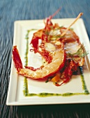 Half-cooked Breton lobster fricassée with pesto