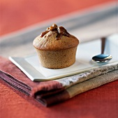 Chestnut muffin filled with walnuts