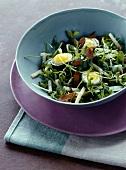 Poutargue and quail's egg salad