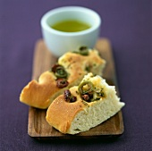 Green and black olive Fougasse