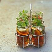 Iced mint and blood orange tea