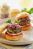 Veal and cumin mini burgers