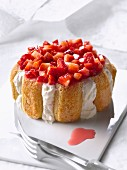 Fromage blanc and strawberry Charlotte