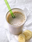 Banana and pineapple milk shake