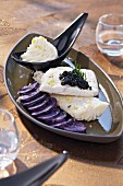 Steamed turbot fillet with whipped cream