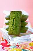 Green Matcha tea Financiers