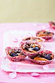 Small cherry batter puddings