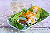 Spiny lobster salad with soya dressing