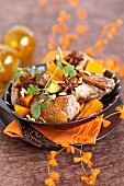 Goose and sweet potato tajine