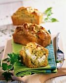 Zucchini,feta and herb savoury mini cakes