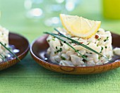 Scallop tartare with lemon and chives