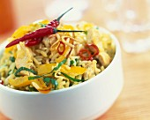Spicy chicken and pepper risotto
