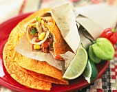 Chorizo and beef Quesadillas
