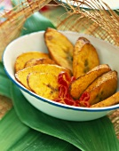Roast plantain bananas