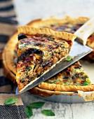 Eggplant savoury tart
