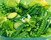 Cooked green vegetables