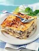 Lasagne mit Hähnchenfleisch und Bechamelsauce