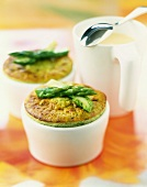 Asparagus and parmesan Flan