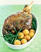 Leg of lamb with noisette potatoes